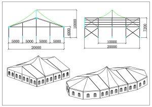 schéma chapiteaux partie pic 20 mètres