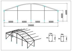 schéma chapiteaux dôme 20m