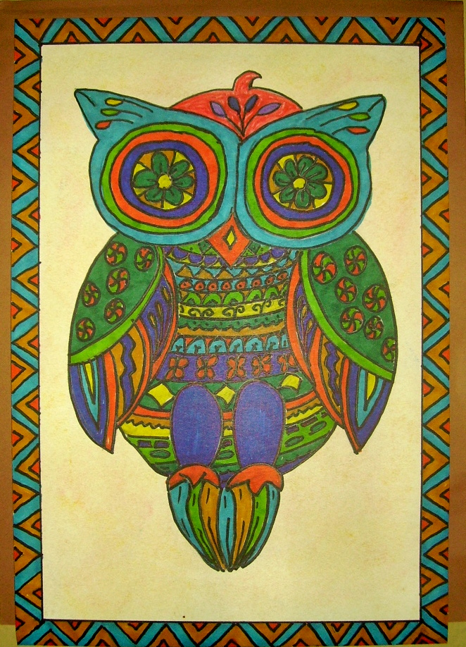 mexican folk art owl