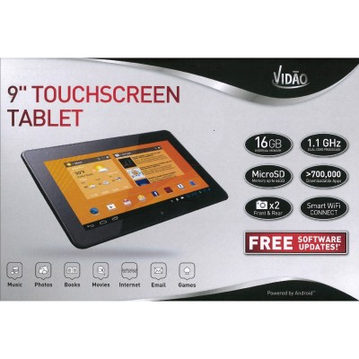 "Vidao 9"" touchscreen tablet"