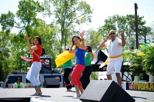 Dance Performance at Holi Festival