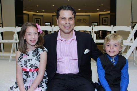 Fred Goerges with Boy and Girl of the Year