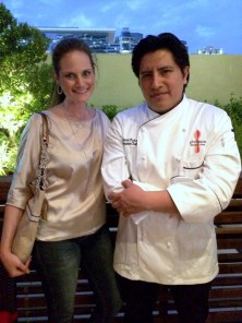 Amber Wills and Chef Manuel Pucha