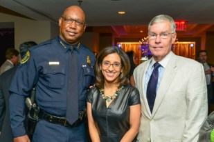 Chief Charles McClelland, Executive Director Rania Mankarious, and The Honorable Jack Christie