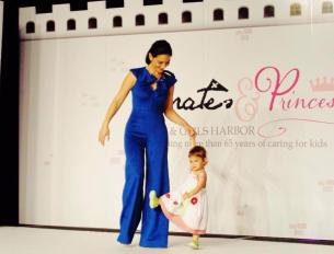 Mom and child modeling for Boy and Girls Harbor