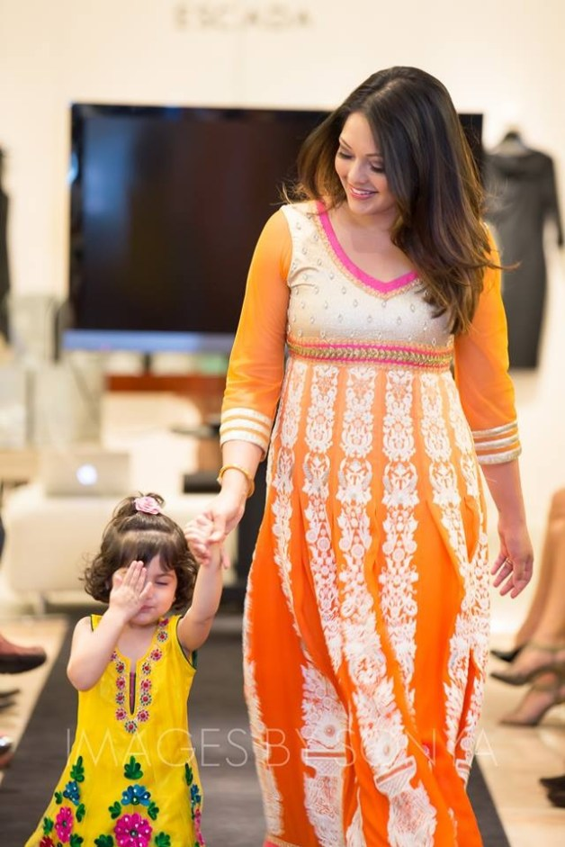 Rekha Muddaraj and her 2 year old daughter
