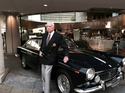 Bob Fuller, Concours Chairman standing with 1961 Ferrari 250GTE