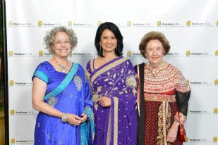 Lillie Robertson, Gala Co-Chair, Dr Renu Khator, Honoree, Harriet Latimer, Gala Co-Chair