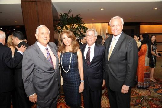 Ambassador Arthur Schechter, Neda Ladjevardian, Fred Zeidman and Bill King