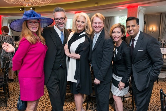 Luncheon guests Cindy Rose, Michael Pearce, Kristi Schiller, Matthew Burrus, Roseann Rogers and Dr. Aashish Shah