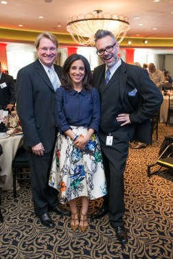 Matthew Burrus, Crime Stoppers Executive Director Rania Mankarious and Michael Pearce