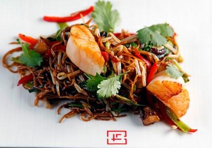 Shrimp and Scallop Noodles