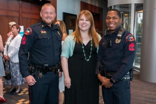 Sergeant Nathan Polansky, Shelley Garza, Sergeant Marlon Runnels