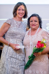 Dr. Nicole Fleming and honoree Deborah Garcia