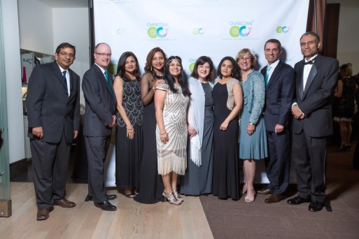 Ovarcome Board & Advisory Board with Guest of Honor Dr. Foti: from left to right – Dr. Anirban Maitra, Rob Heifner, Dr. Aparna Kamat, Founder Runsi Sen, Juuhi Ahuja, Dr. Foti, Dr. Priya Bhosale, Betty White, Mike Beck, Dr. Anil Sood