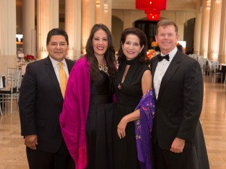 Richard Carranza and Monique Garcia, Janet and Harvin Moore; Photo by Wilson Parish