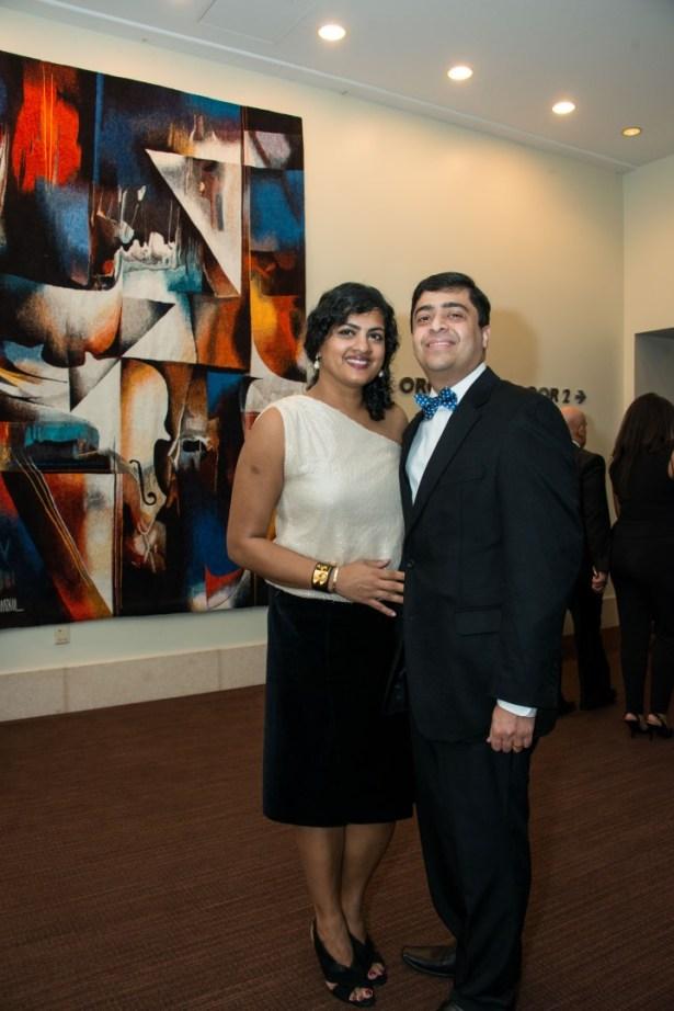 Vivek Subbiah and Ishwaria Subbiah, Ars Lyrica Houston Bachanalia NYE - Photo by Aimee and Cesar Muñiz