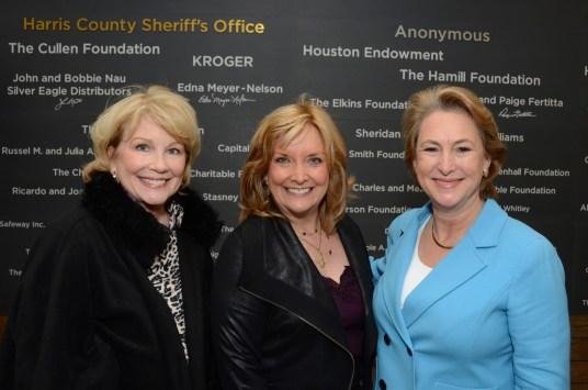 Jan Carson, Shara Fryer, Harris County District Attorney Kim Ogg