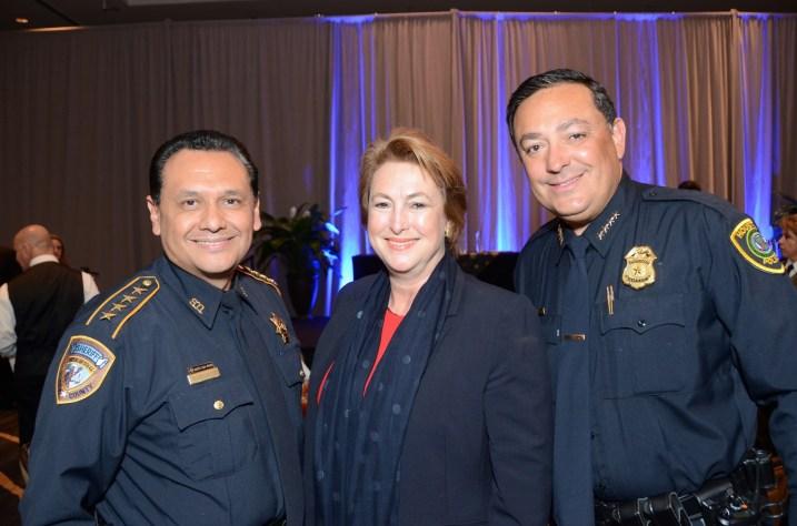 Harris County Sheriff Ed Gonzalez, Harris County District Attorney Kim Ogg, Houston Police Chief Art Acevedo