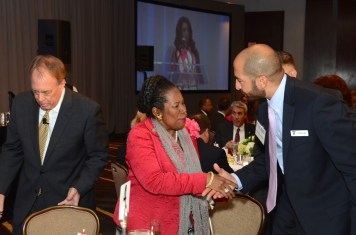 James Conway, Congresswoman Sheila Jackson Lee, Crime Stoppers Board Chairman Hazem Ahmed