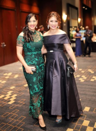 Gala co-chair Sippi Khurana with Christina Zhou at Festari for Men Una Notte In Italia