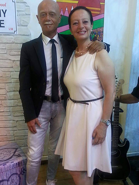 Con Beppe Aleo
