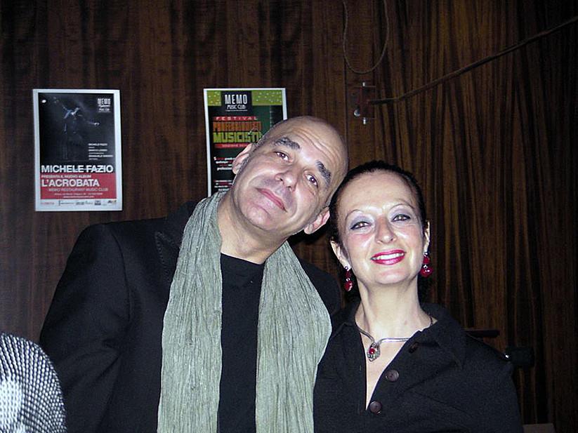 Con Flavio Pirini