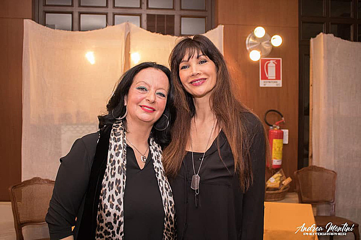 Con Luisa Corna