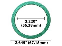 round collector exhaust gasket used for 2 bolt x 2 1 4 flange