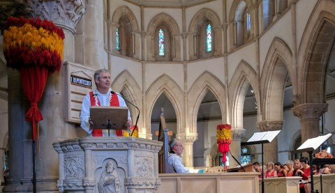 Dr. David Lose preaching at the Reformation 500 Ecumenical Service