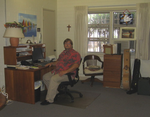 Pastor Jeff Lilley in his office