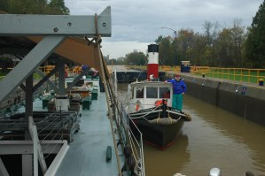 Lois McClure in Erie Canal Lock #___