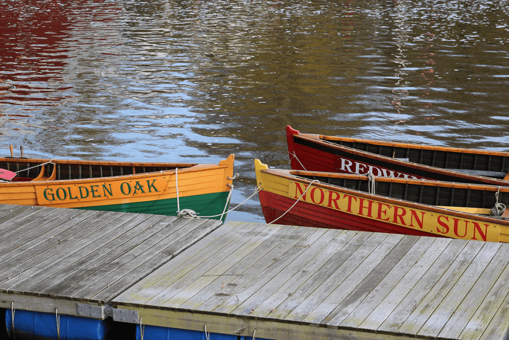 Three pilot gig boats for rowing
