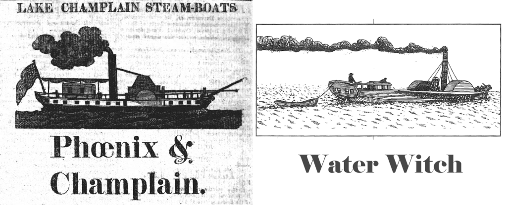 Image of two of Jahaziel's steamboats