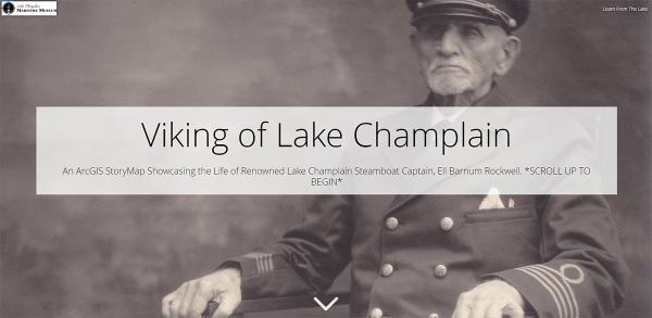 Screenshot of ARCGIS page for Viking of Lake Champlain