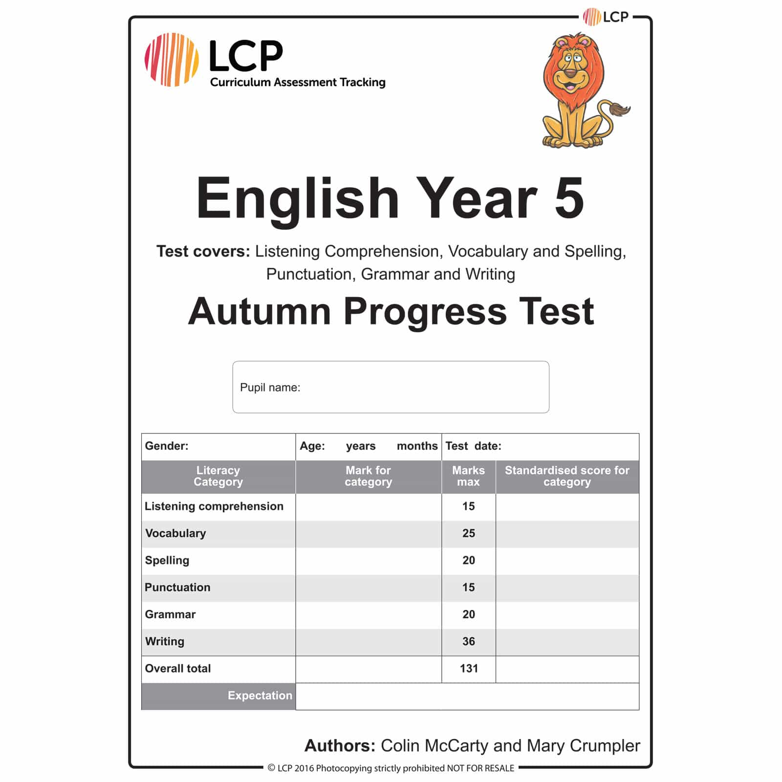 English Autumn Year 5 Class Pack Of 30 Papers