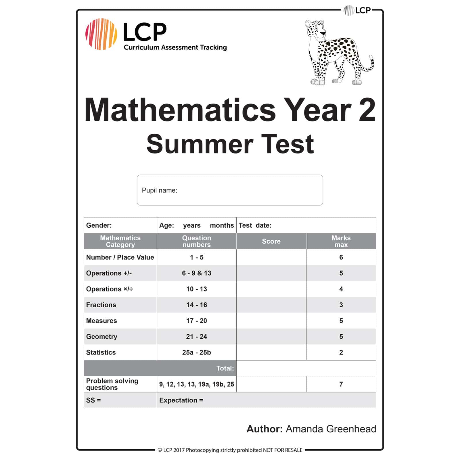 Maths Summer Year 2 Class Pack Of 30 Papers