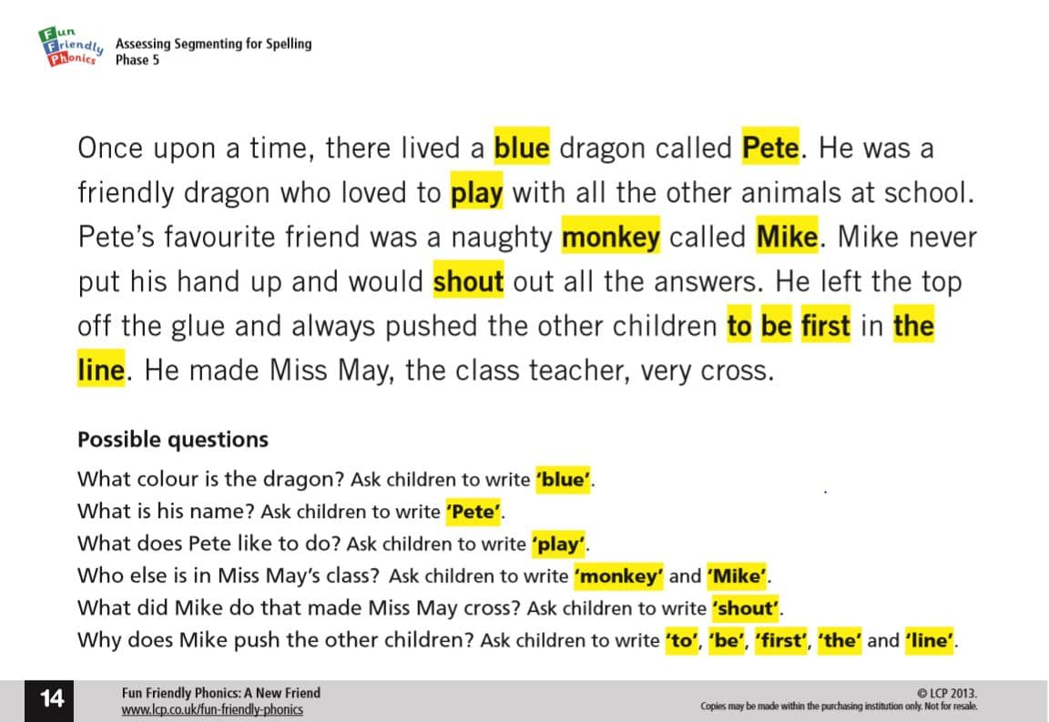 Phase 5 Phonics Reading Book With Comprehension Questions