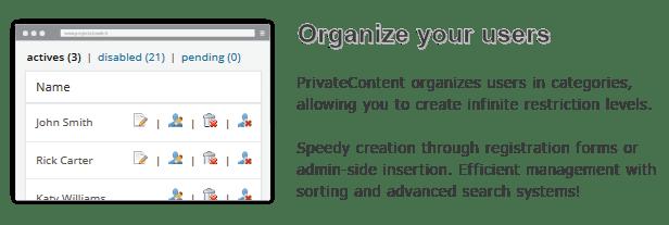 PrivateContent - Multilevel Content Plugin 10