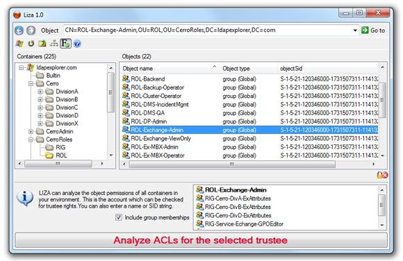 Selecting the trustee to be analysed