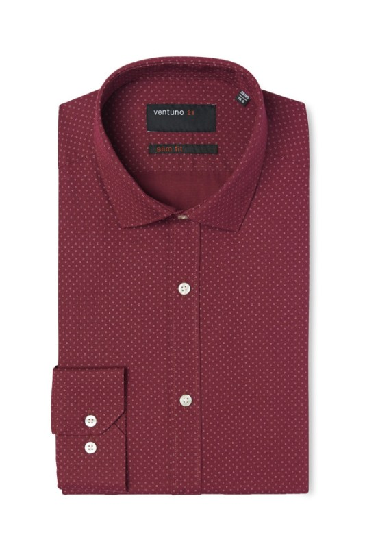 http://www.moss.co.uk/Ventuno-Slim-Fit-Wine-Geo-Print-Single-Cuff-Shirt-965098818