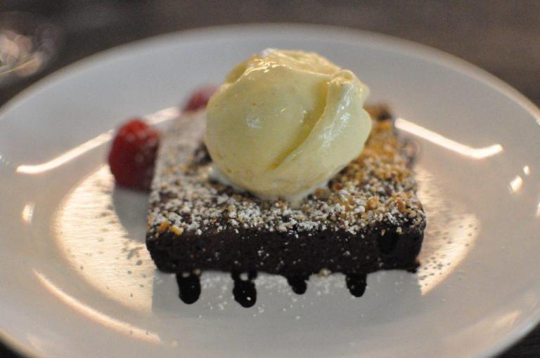 Royal Oak warm chocolate and hazelnut brownie