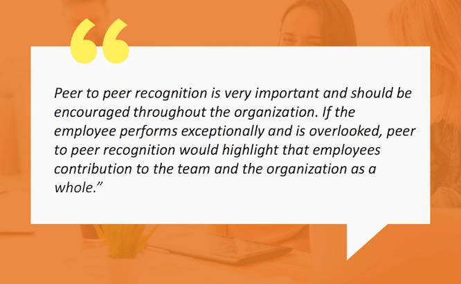 employee recognition: peers