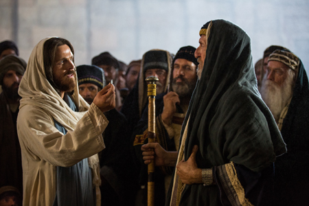 Pharisees with Jesus