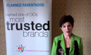Joan Graves speaking at Planned Parenthood event