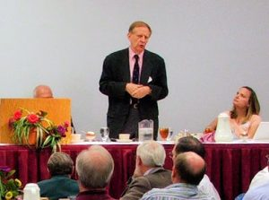 Richard Bushman addressing the John Whitmer Historical Association in 2011, photo by John Hamer