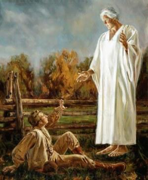 Angel Moroni commands Joseph Jr. to tell Joseph Smith Sr.