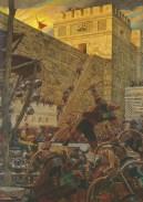 Samuel the Lamanite on the Wall (Samuel the Lamanite Prophesies), by Arnold Friberg