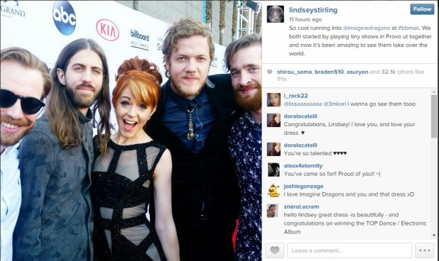 Lindsey Stirling and Imagine Dragons