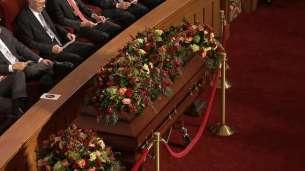 Elder Scott's casket.